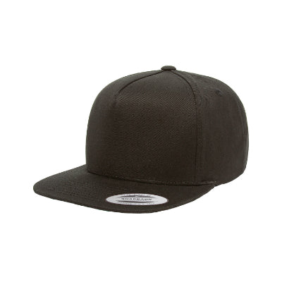 Yupoong Adult 5-Panel Cotton Twill Snapback Cap