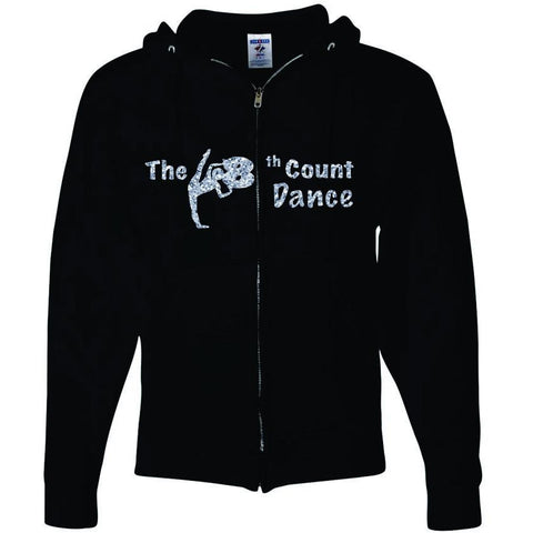 8th Count Dance Sparkle Full Zipper Hood
