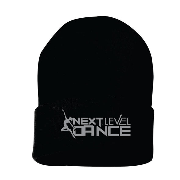 Next Level (S) Black Embroidered Knit Hat