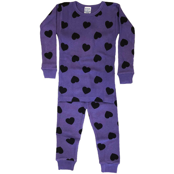 Grape/Black Hearts Thermal PJs