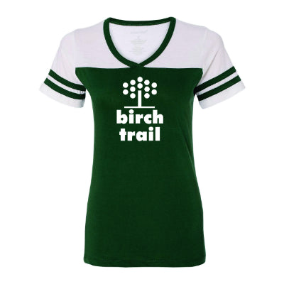 Birch Trail Women's Powder Puff Baseball Tee