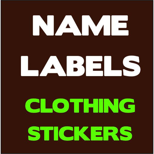 Sticker Name Labels for Clothing