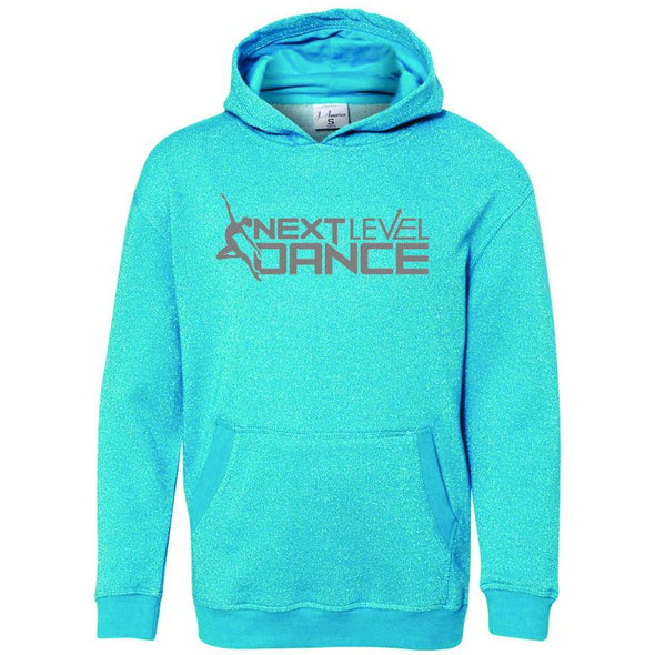 Next Level (S) Youth Glitter French Terry Hooded Sweatshirt