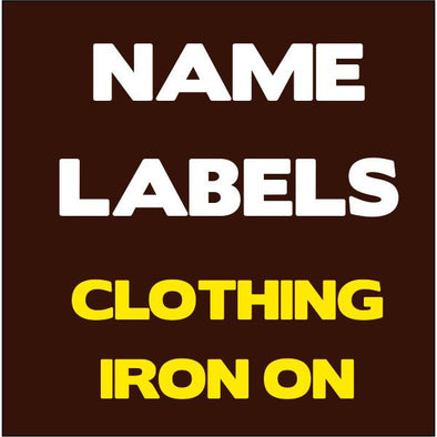 Iron On  Name Labels for Clothing