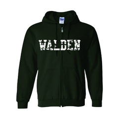 Walden Distressed Full Zip Hoodie