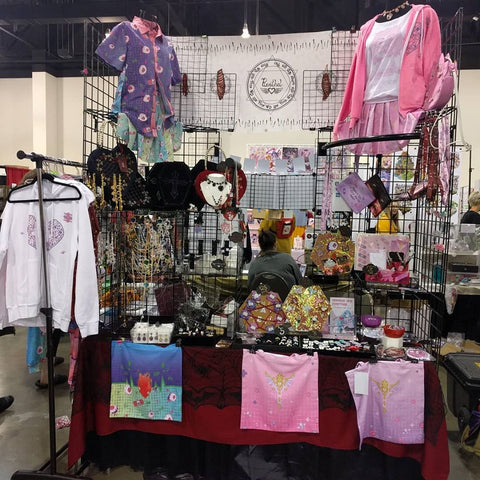 Puvithel's booth
