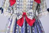 Rococo Bouquet Onepiece in Navy Blue,  Onepiece, Baby Ponytail gothic kawaii sweet japanese street fashion japan decora Lolita Collective