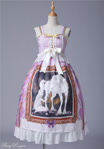 Unicorn Maiden Jumperskirt in Lavender,  Onepiece, Baby Ponytail gothic kawaii sweet Lolita Collective