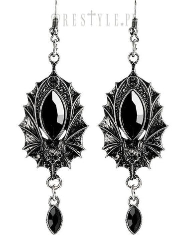 Bat Earrings in Silver,  Earrings, Restyle gothic kawaii sweet Lolita Collective