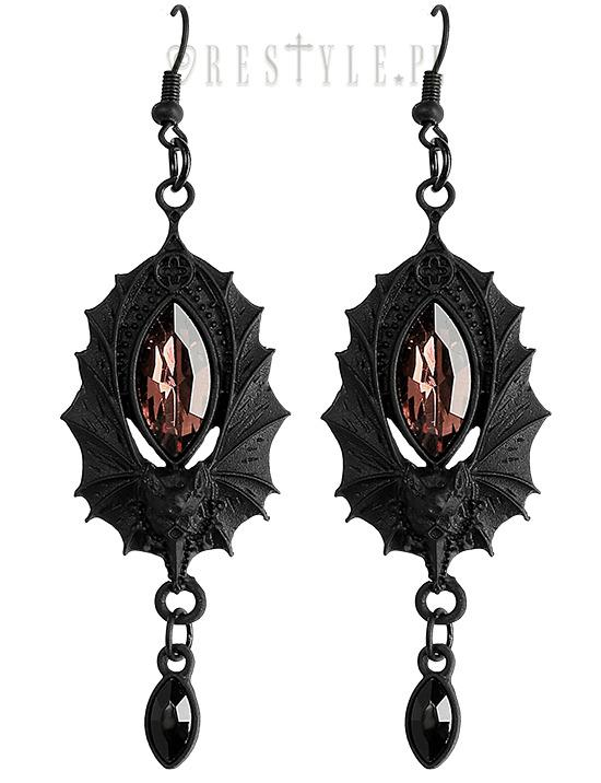 Bat Earrings in Black,  Earrings, Restyle gothic kawaii sweet japanese street fashion japan decora Lolita Collective