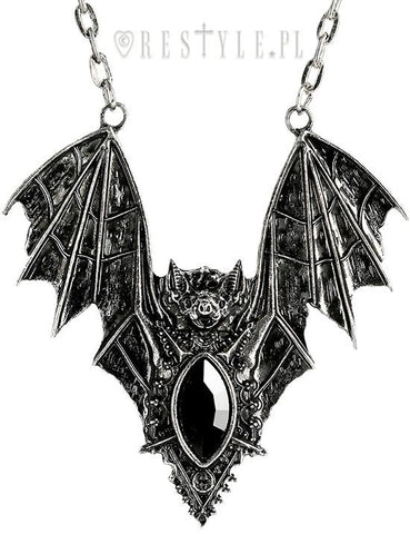 Bat Necklace in Silver,  Necklace, Restyle gothic kawaii sweet japanese street fashion japan decora Lolita Collective