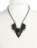 Bat Necklace in Black,  Necklace, Restyle gothic kawaii sweet japanese street fashion japan decora Lolita Collective