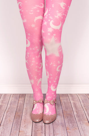 Lunar Pop Tights,  Tights, Moon Kitty Productions gothic kawaii sweet Lolita Collective