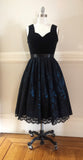 Daphne Jumperskirt in Blue,  Jumperskirt, The Black Ribbon gothic kawaii sweet Lolita Collective