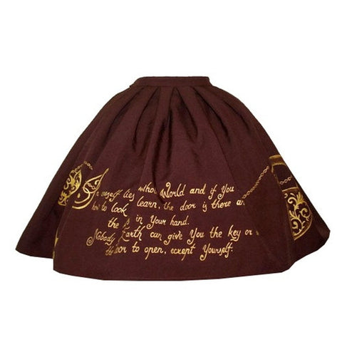 Skull and Key Skirt in Brown,  Skirt, Eat Me Ink Me gothic kawaii sweet Lolita Collective