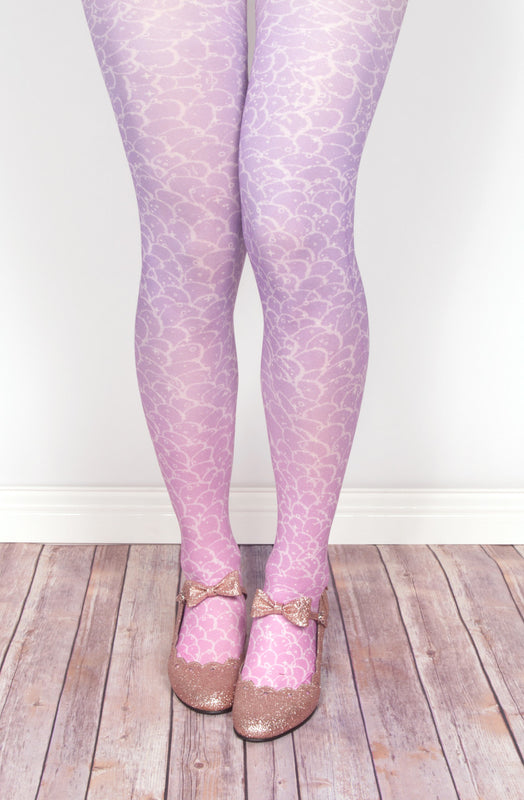 Moon Kitty Productions Merbabe Tights in Purple little mermaid decora j-fashion