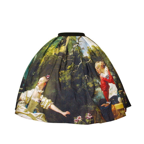 "Old Masters: Fragonard ""Rendezvous"" skirt"