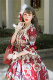 Circus Princess Onepiece in Red,  Onepiece, Baby Ponytail gothic kawaii sweet japanese street fashion japan decora Lolita Collective