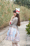 Masquerade Ballet Onepiece in Light Blue,  Onepiece, Baby Ponytail gothic kawaii sweet japanese street fashion japan decora Lolita Collective