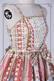 Rococo Bouquet Jumperskirt in Red,  Jumperskirt, Baby Ponytail gothic kawaii sweet Lolita Collective