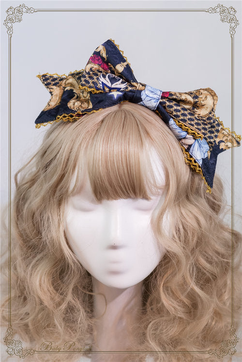 Circus Princess Headbow (2 Colors),  Headband, Baby Ponytail gothic kawaii sweet japanese street fashion japan decora Lolita Collective