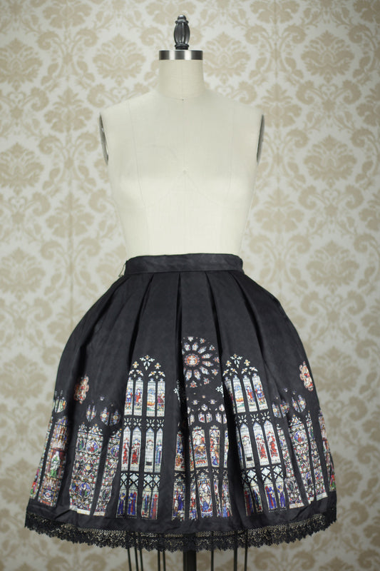CEL St. Augustine Abbey Stained Glass Skirt in Black