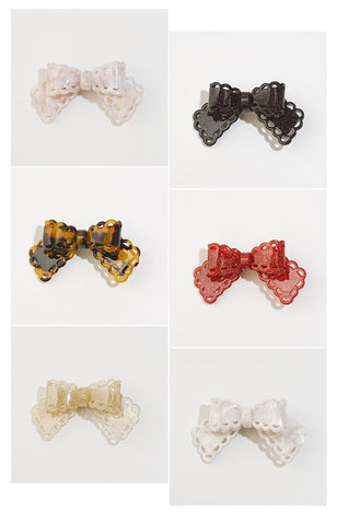 Bow Clip (5 Colors),  Hair Clip, Funcoco gothic kawaii sweet japanese street fashion japan decora Lolita Collective