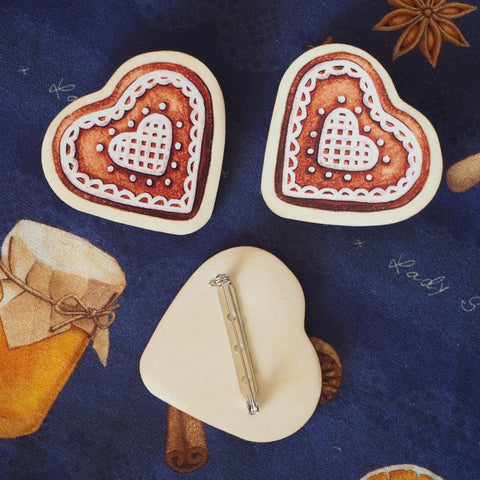Winter Spiced Gingerbread Cookie Pin