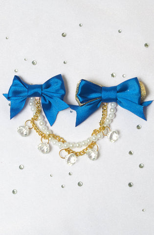 Double Bow Clips Revolutionary Revolution Lolita Streetfashion Decora Glitter