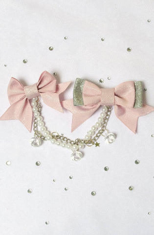 Revolutionary Revolution Double Bow Clips Sparkle Lolita Decora Streetfashion J-Fashion Kawaii