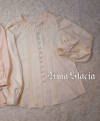 Around the World in 90 Days Blouse in Cream (2 Sleeve Lengths),  Blouse, Amastacia gothic kawaii sweet Lolita Collective