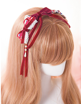 Souffle Song British Bow Headband Union Jack Lolita headbow velvet ribbon