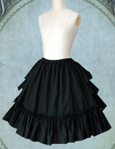 Bustle-Back Ruffle Skirt (2 Colors)