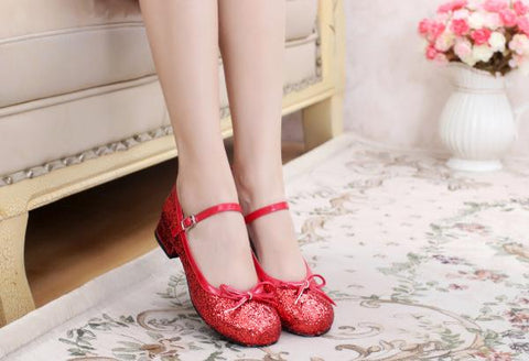 Simple Glitter Shoes (6 Colors)