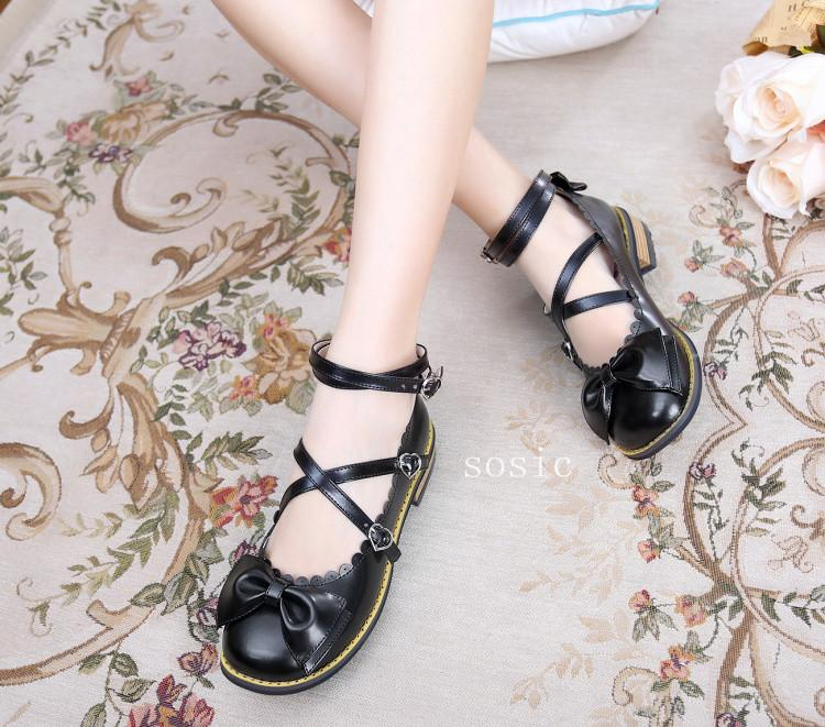 Simple Bow Shoes (6 Colors)