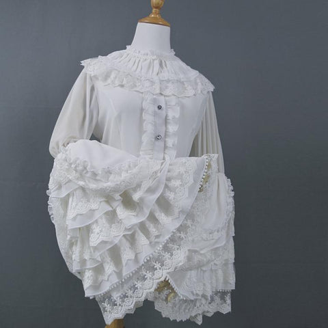 Ornate Sleeve Blouse (2 Colors, 5 Sizes)
