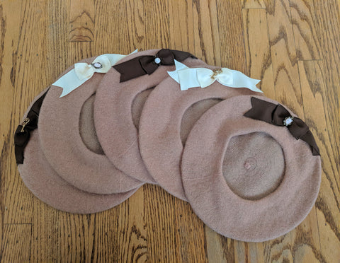 Tan and Ribbon Beret
