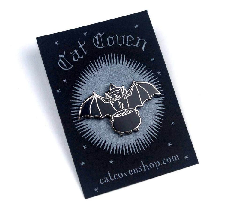 Bat Witch Pin,  Enamel Pin, Cat Coven gothic kawaii sweet japanese street fashion japan decora Lolita Collective