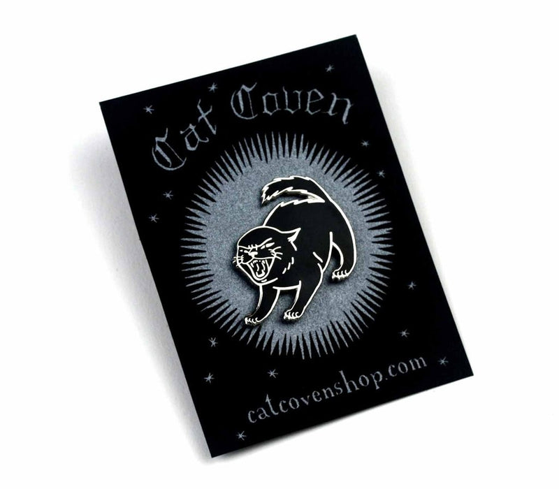 Sassy Kitten Pin,  Pin, Cat Coven gothic kawaii sweet japanese street fashion japan decora Lolita Collective