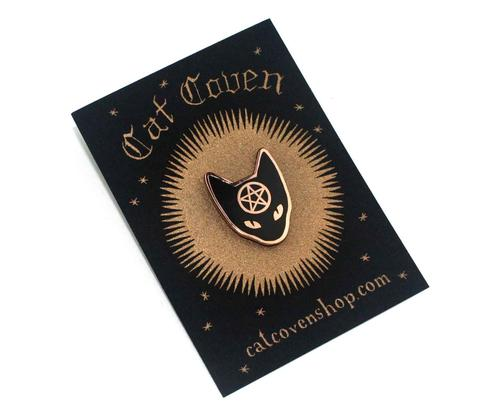 Cat Coven Pin in Copper,  Enamel Pin, Cat Coven gothic kawaii sweet japanese street fashion japan decora Lolita Collective