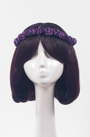 Paper Flower Crown (12 colors),  Headband, Paradise Rose gothic kawaii sweet Lolita Collective