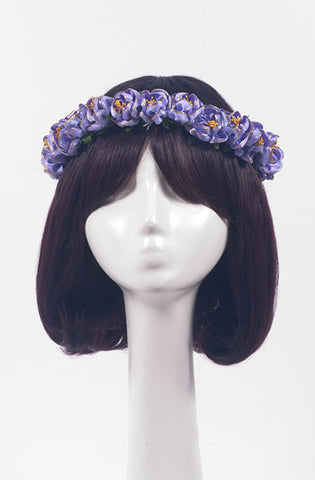 Satin Flower Crown (2 colors),  Headband, Paradise Rose gothic kawaii sweet Lolita Collective