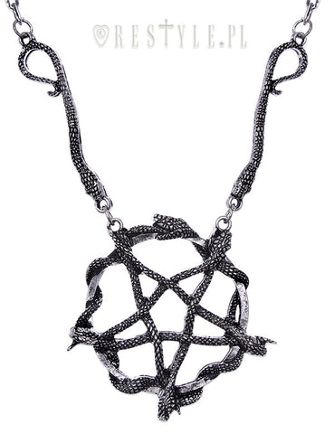 Snake Pentagram Necklace,  Necklace, Restyle gothic kawaii sweet Lolita Collective