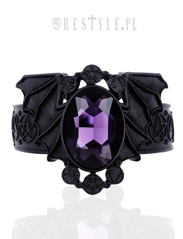 Black Bat Clasp Bracelet,  Bracelet, Restyle gothic kawaii sweet japanese street fashion japan decora Lolita Collective