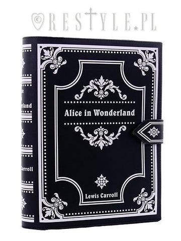 Alice in Wonderland Book Bag in Black,  Bag, Restyle gothic kawaii sweet Lolita Collective