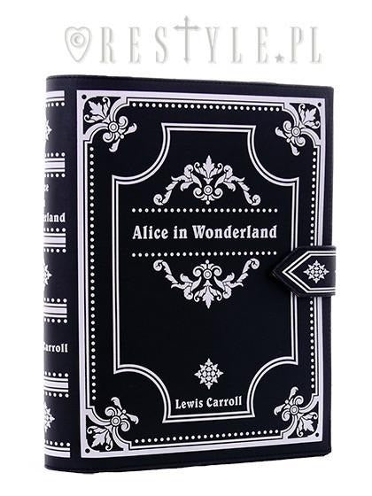 Alice in Wonderland Book Bag in Black,  Bag, Restyle gothic kawaii sweet japanese street fashion japan decora Lolita Collective
