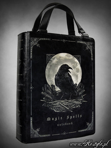 Magic Spells Raven Book Bag,  Bag, Restyle gothic kawaii sweet Lolita Collective