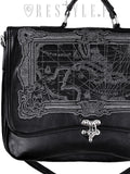 Map Satchel in Black