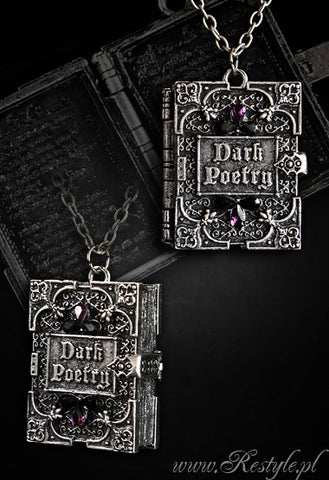 Dark Poetry Locket Necklace,  Necklace, Restyle gothic kawaii sweet Lolita Collective
