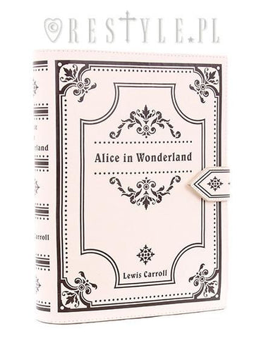 Alice in Wonderland Book Bag in Cream,  Bag, Restyle gothic kawaii sweet Lolita Collective